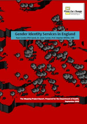 Image and Link for the Gender Identitiy Services in England Report produced by Press For Change